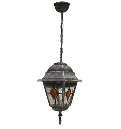 Monaco kültéri függeszték lámpatest tiffany üveggel Rábalux 8184 + ajándék izzó