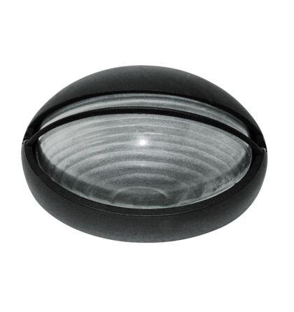Hektor kültéri E27 mennyezeti lámpa fekete ovális Rábalux 8495