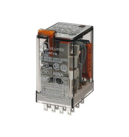 Finder miniatűr ipari relé 4 váltóérintkezős 230V AC 7A