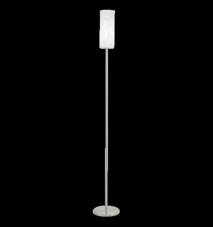 Eglo állólámpa E27 1x100W matt nikkel/fehér dekor Amadora 90052
