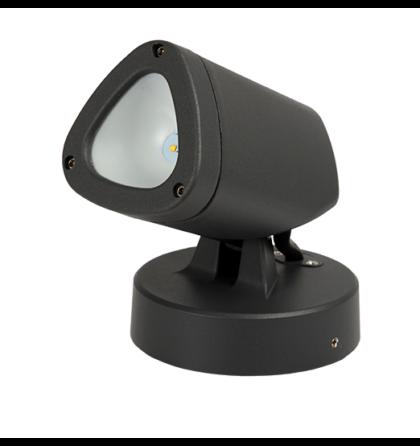LED kültéri 3W fix kerti lámpatest 4000-4300K sötét szürke 9616LEDW