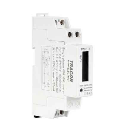 Tracon 1 fázisú közvetlen fogyasztásmérő 230V AC / 5(40) A TVOF11
