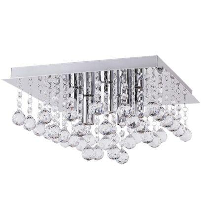 Corinna mennyezeti 35x35 cm 5XE14 kristály lámpatest Rábalux 2618