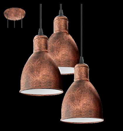 Eglo Priddy mennyezeti vintage lámpatest  49493