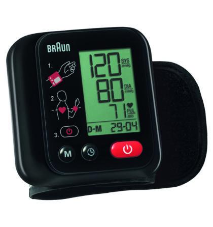 Vérnyomásmérő csuklós 90 memóriás BBP 2200CEME Braun