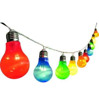 LED-es izzósor, körte alakú, színes, 10db-os, 230V LP 10/M Somogyi