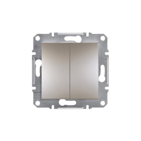 ASFORA 106+6 dupla váltókapcsoló bronz süllyesztett Schneider EPH0600169