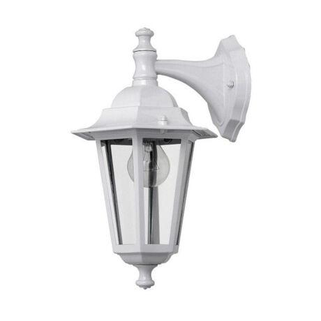 Anco Dortmund kültéri falikar lámpatest lefelé álló fém E27 fehér IP44 + ajándék izzó VELENCE 321005