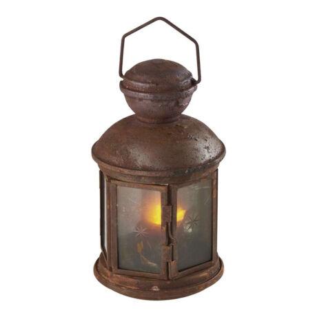 Emos VINTAGE dekorációs antik lámpás időzíthető fekete ZY1977