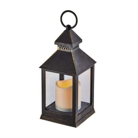 Emos VINTAGE dekorációs antik lámpás gyertyával időzíthető fekete ZY2115