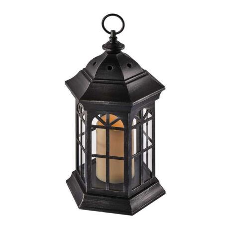 Emos VINTAGE dekorációs antik lámpás gyertyával időzíthető fekete ZY2117