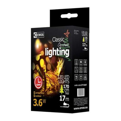 Emos karácsonyi fényfüzér időzítővel 120 LED 12m vintage ZY1434T