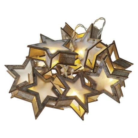 Emos karácsonyi fényfüzér időzítővel 3D csillag 10LED meleg fehér 1,35 m ZY2065