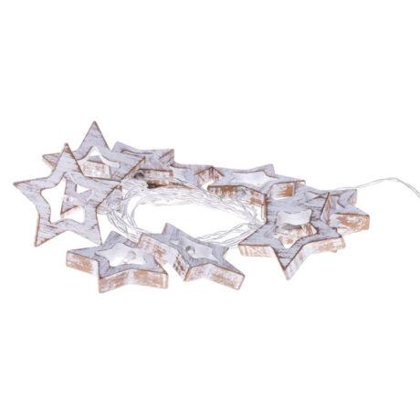Emos karácsonyi fényfüzér időzítővel GARLAND FA csillag 10LED meleg fehér ZY1968
