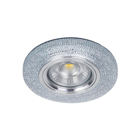 Elmark modern álmennyezeti beépíthető kristály spotlámpa világító kerettel 925772S/CL