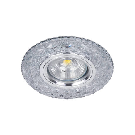 Elmark modern álmennyezeti beépíthető kristály spotlámpa világító kerettel 925774S/CL