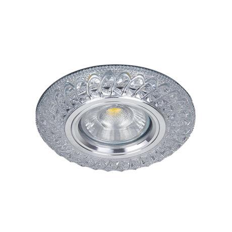 Elmark modern álmennyezeti beépíthető kristály spotlámpa világító kerettel MR16+LED 3W/4000K 925775S/CL