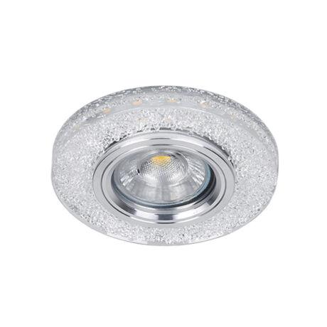 Elmark modern álmennyezeti beépíthető kristály spotlámpa világító kerettel 925P771R/CL