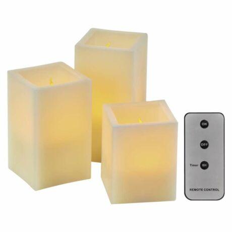 HOME dekoráció LED gyertya 3db 7.5x10/12.5/15 9xAAA ZY2142 Emos