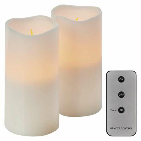 HOME dekoráció LED gyertya 2db 7.5x15cm 6xAAA távírányítóval VINTAGE Emos