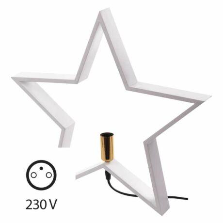 Emos Fa gyertyatartó dekoráció E14 izzó, Star, 48cm, fehér, beltéri ZY2214