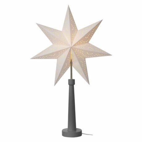 Emos Gyertyatartó E14 izzó papír csillag dekoráció 46 × 70cm, szürke ZY2215