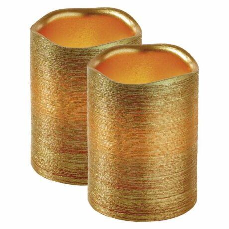 Emos dekoráció LED 2 db Gyertyák  5 × 10cm, arany, 3 × AAA, borostyán ZY2272