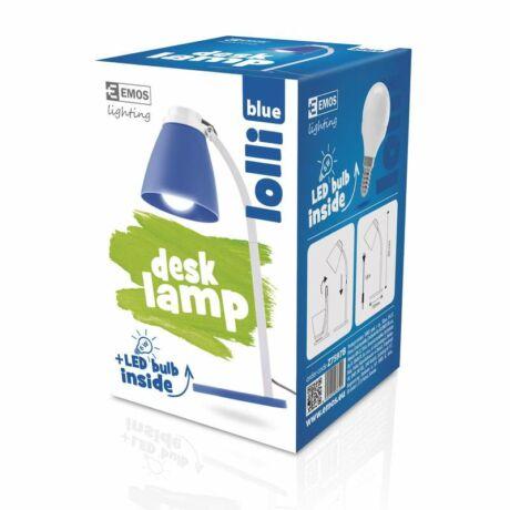 LOLLI LED íróasztali lámpatest 6W LED 500 Lm izzóval kék EMOS