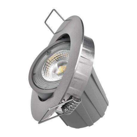 Emos LED spotlámpa 8W természetes fehér álmennyezetbe építhető nikkel 3év garancia ZD3242