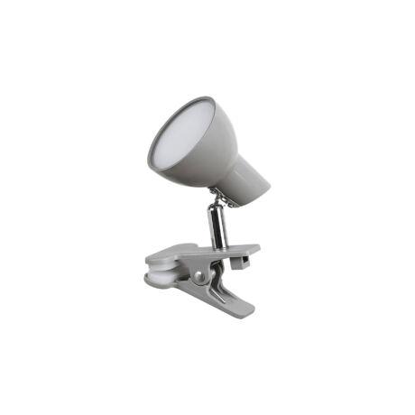 Noah csiptethető LED lámpatest szürke 5W 360 Lm 3000K meleg fehér Rábalux 1480