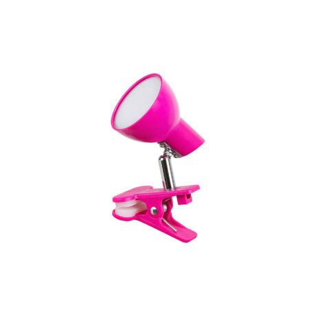Noah csiptethető LED lámpatest rózsaszín  5W 360 Lm 3000K meleg fehér Rábalux 1482