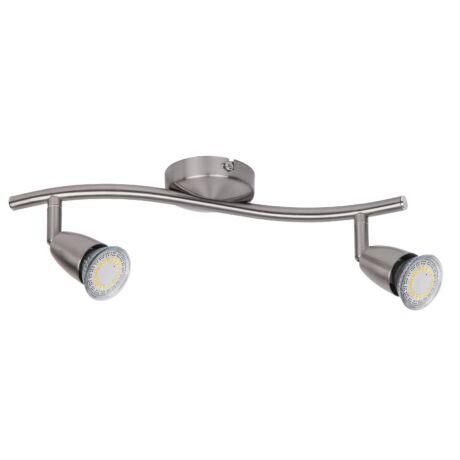 Norman LED 2x4,5W 680Lm GU10 3000K meleg fehér fali 2-es spot lámpa Rábalux 6526 Kiárusítás