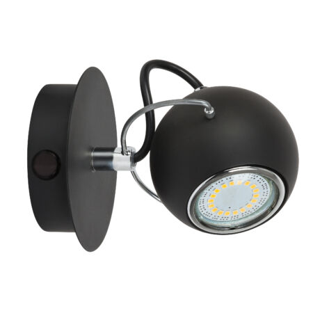 Bobby minimál matt fekete LED 4,5W 340Lm fali spot lámpa GU10 Rábalux 6825