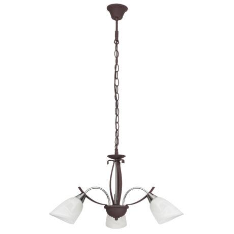 Alice klasszikus mennyezeti lámpatest 3xE14 barna/króm Rábalux 7033
