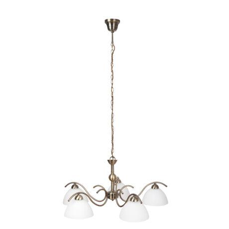 Aurelia klasszikus függeszték lámpatest bronz 5xE14 Rábalux 7140