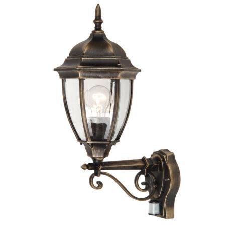 Toronto kültéri falikar felfele álló lámpatest mozgásérzékelővel Rábalux 8380