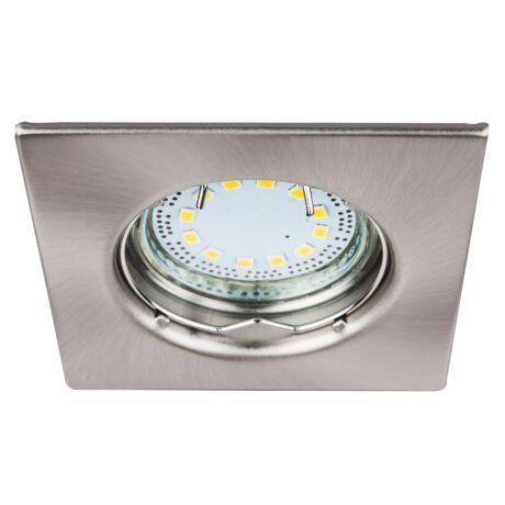 Lite LED 3XGU10 3W fix króm szögletes beépíthető spot Rábalux 1054 (3db/ szett)
