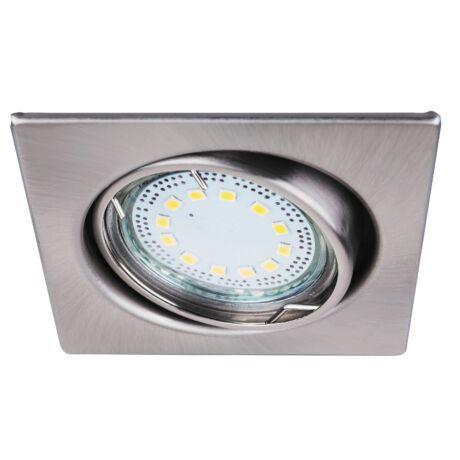 LITE LED 3XGU10 3W fix króm szögletes beépíthető spot Rábalux 1057 (3db/ szett)