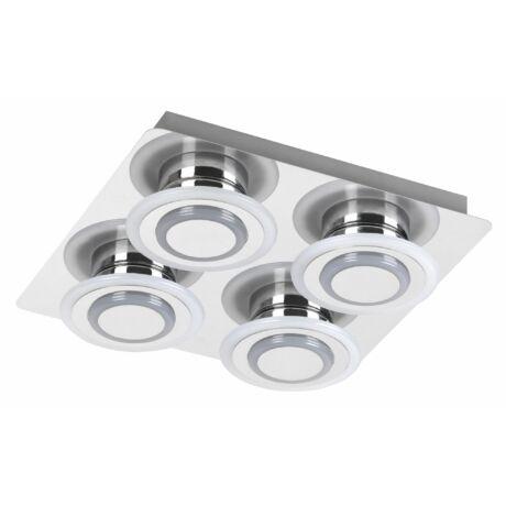 Demna modern króm mennyezeti LED lámpa 4x4W Rábalux 2259