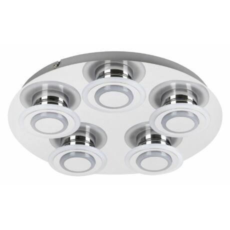 Demna LED mennyezeti lámpatest modern króm mennyezeti lámpa 5x4W 5x360Lm 4000K természetes fehérRábalux 2260