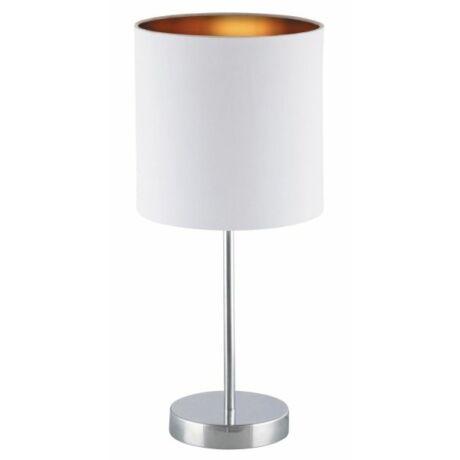 Monica asztali modern textil lámpatest E27 fehér - arany Rábalux 2528