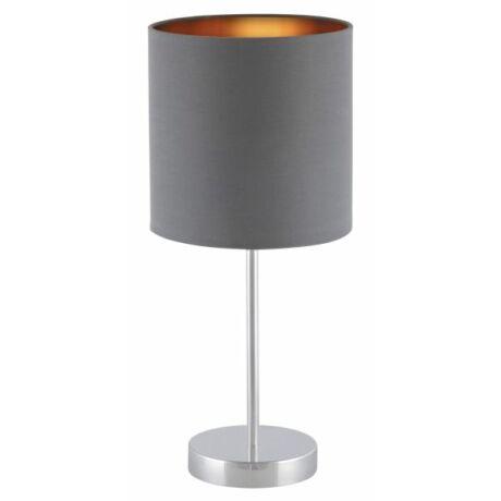 Monica asztali modern textil lámpatest E27 szürke- arany Rábalux 2538
