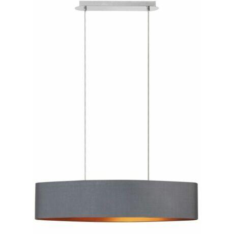 Monica függeszték modern textil lámpatest 2xE27 szürke - arany Rábalux 2542