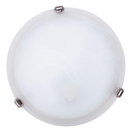 Alabastro mennyezeti lámpa ezüst körömmel D30cm Rábalux 3202 + ajándék izzó