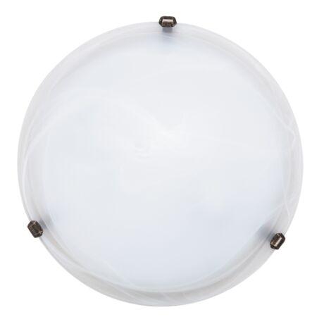 Alabastro mennyezeti lámpa bronz körömmel 2XE27 D40cm Rábalux 3303 + ajándék izzó