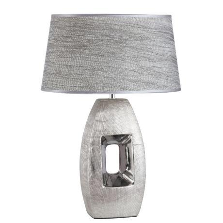 Leah modern asztali lámpatest ezüst E27 Rábalux 4388