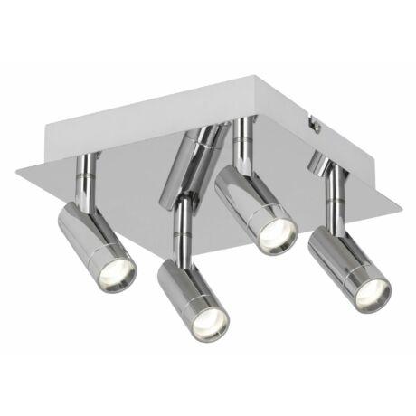 George LED fürdőszobai króm mennyezeti spot lámpa LED 4x5,6W IP44 Rábalux 5496