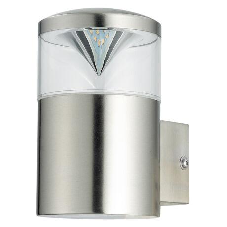Charlotte kültéri LED fali lámpatest GU10 4,5W 340Lm 3000K Inox IP44 Rábalux 8559