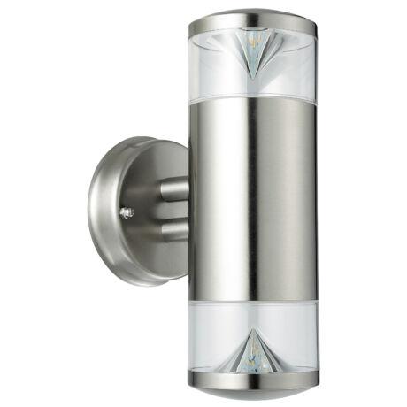 Charlotte kültéri LED fali lámpatest 2X4,5W 340Lm 3000K GU10 Inox IP44 Rábalux 8560