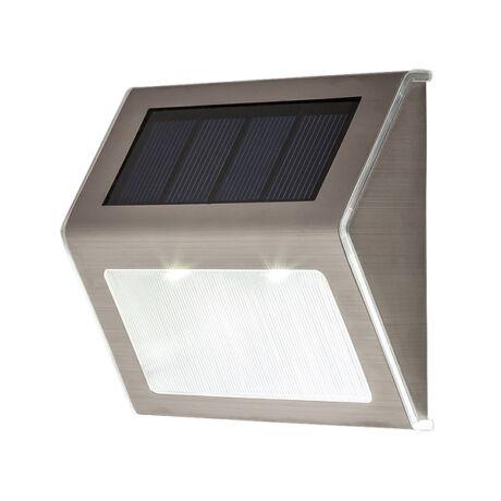 Santiago solár kültéri fali LED 0,12W IP 44 fali lámpatest 2db /csomag Rábalux 8784